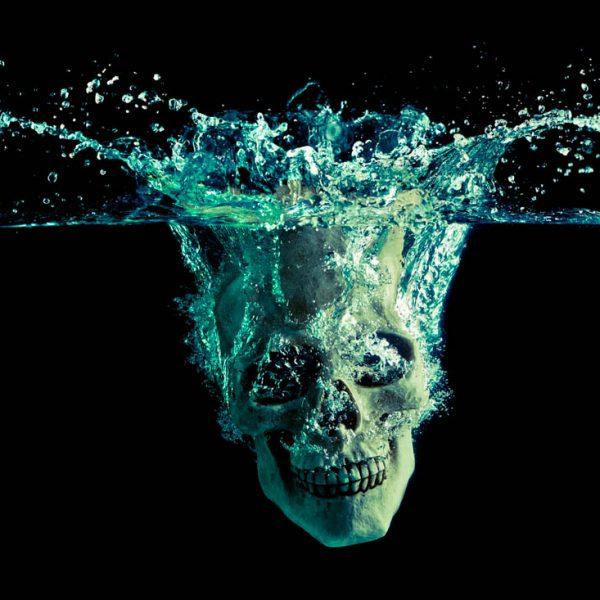 Skull splash 4 subligraphie de Vincent Roux